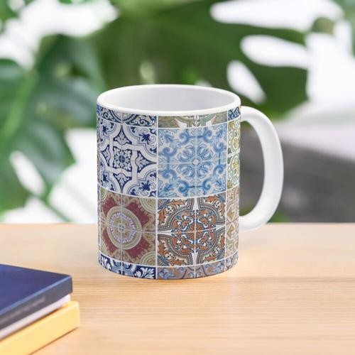 Set of 48 ceramic tiles patterns Mug
