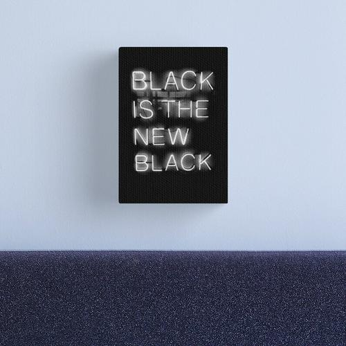 Black Is The New Black Canvas Print