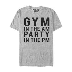Chin Up Apparel Men's Tee Shirts ATH - Athletic Heather 'Gym In The AM Party In The PM' Tee - Men