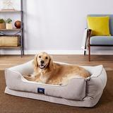 Serta Orthopedic Bolster Dog Bed w/Removable Cover, Gray, X-Large