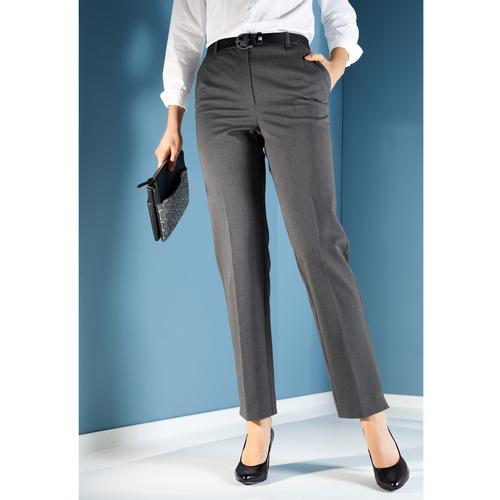 m. collection Stretch-Hose, mit Bauchweg-Effekt grau Damen Gerade Hosen Stretch-Hose