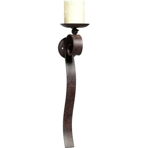 Ambiente Haus Kerzenhalter, Höhe 48 cm, Kerzen-Wandleuchter, Kerzenleuchter hängend, Wanddeko braun Wanddekoration Deko Wohnaccessoires Kerzenhalter
