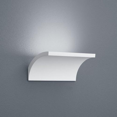 LED Wandleuchte Adeo geschwungen in weiß-matt