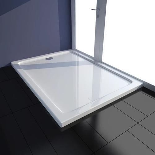 Duschtasse ABS Rechteckig Weiß 80×110 cm - Vidaxl
