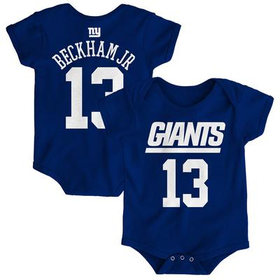 Newborn New York Giants Odell Beckham Jr Royal Mainliner Name & Number Bodysuit