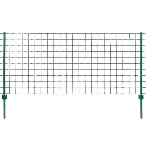 vidaXL Metallzaun Stahl 20 x 0,8 m Grün