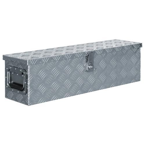 vidaXL Aluminiumkiste 80,5×22×22 cm Silbern