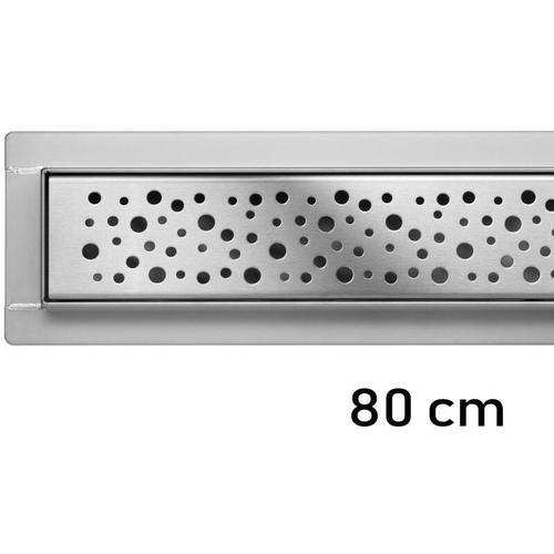 Duschrinne Bodenablauf Modell Napo Edelstahl Siphon Ablaufrinne 80 cm