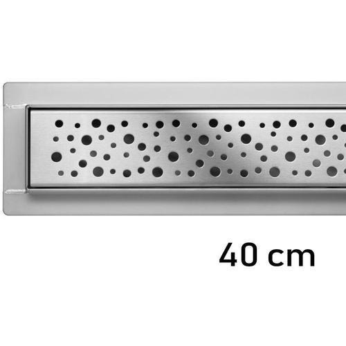 Duschrinne Bodenablauf Modell Napo Edelstahl Siphon Ablaufrinne 40 cm