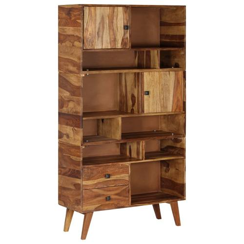 vidaXL Highboard Massivholz 90 x 35 x 170 cm