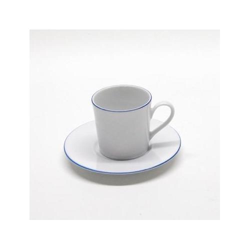 Retsch Arzberg Espressotasse Heike Blaurand, (Set, 12 tlg., 6 Espresso Obertasse-6 Untertasse), Tassen, Untertassen weiß Becher Tassen Geschirr, Porzellan Tischaccessoires Haushaltswaren