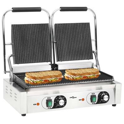 vidaXL Gril de panini à double r...
