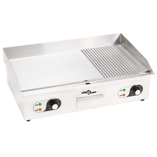 vidaXL Elektrische Grillplatte Edelstahl 4400 W 73x51x23 cm