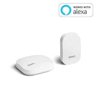 eero Home WiFi System (1 eero + 1 eero Beacon) - Advanced Tri-Band Mesh WiFi System to Replace Tradi