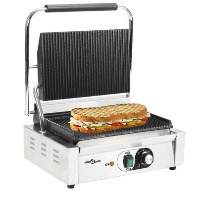 vidaXL Grill rainuré pour panini...