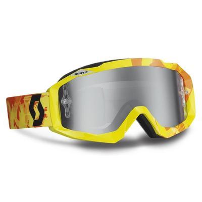 Scott Hustle Silver Chrome Works Lunettes de protection, jaune