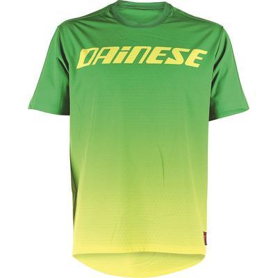 Dainese Driftec Maillot de vélo, vert-jaune, taille S