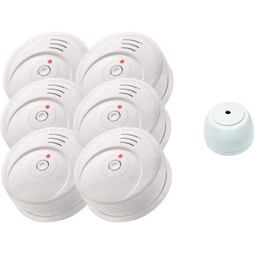 Jeising Sicherheits Set GS506 G 6er Set Rauchmelder/Brandmelder/ 10 Jahre Batterie KRIWAN