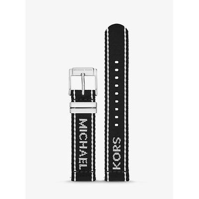 Michael Kors Gen 4 Runway Logo Tape Nylon Smartwatch Strap Black One Size
