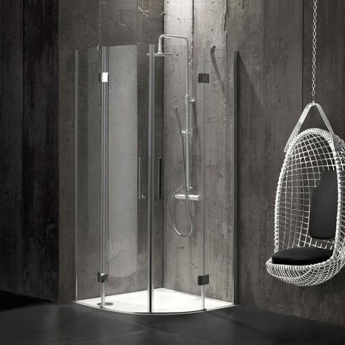 Rahmenlose Runddusche 90 × 90 Aus 6 Mm Kristallglas London