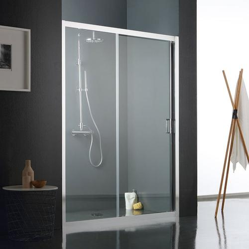 Duschtür Für Nische Aus Transparentem Kristallglas Mit Zwei Elementen 150 Cm