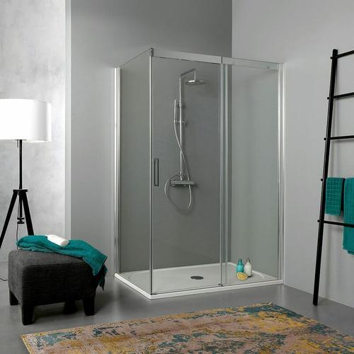 Transparente Duschkabine 140 × 70 Mit Schiebetür Aus Kristallglas