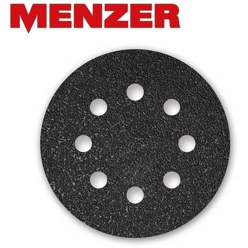 50 MENZER Klett-Schleifscheiben f. Exzenterschleifer, Ø 125 mm / 8-Loch / K400 / Siliciumcarbid
