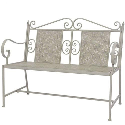 Gartenbank 115 cm Stahl Grau