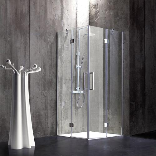 Rahmenlose Duschkabine 80 × 80 Aus 6 Mm Kristallglas London