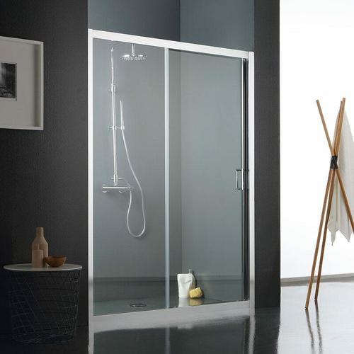 Duschtür Für Nische 110 Cm Aus Transparentem Kristallglas