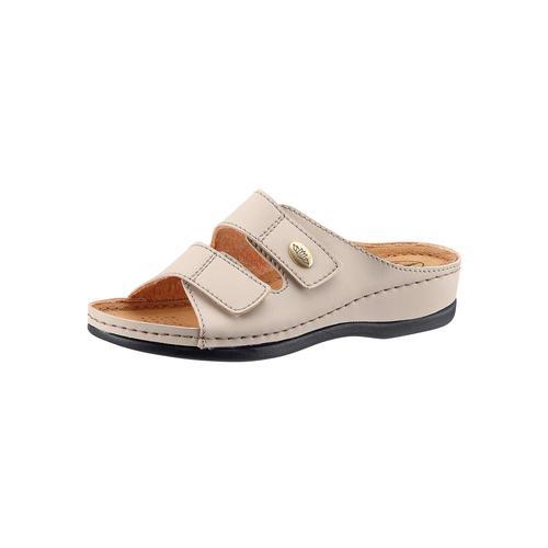 Franken-Schuhe Pantolette grau Damen Keilschuhe Sommerschuhe