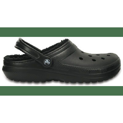 Crocs Black / Black Classic Lined Clog Shoes