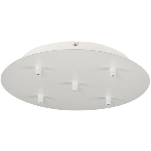SLV - Deckenrosette Fitu, 5 Ausgänge, rund, inkl. Zugentlastung, weiß
