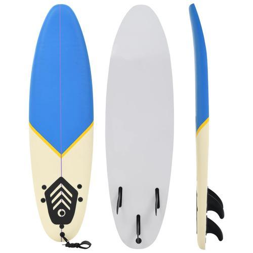 vidaXL Surfbrett 170 cm Blau und Creme
