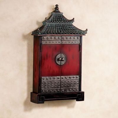 Oriental Pagoda Key Cabinet