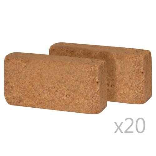vidaXL Kokosfaser-Blöcke 40 Stk. 650 g 20 x 10 x 4 cm