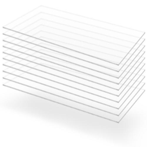 vidaXL Acrylglasplatten 10 Stk. Klar 60×120 cm 3 mm