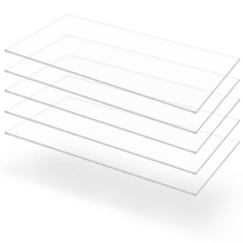 vidaXL Acrylglasplatten 5 Stk. Klar 60×120 cm 3 mm