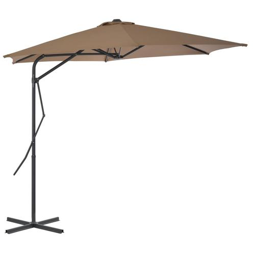 vidaXL Sonnenschirm mit Stahlmast 300 cm Taupe