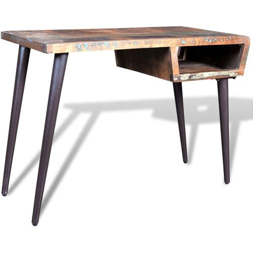 Tisch mit Eisenbeinen Altholz