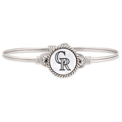 Colorado Rockies Luca + Danni Women's Petite Bangle Bracelet - Silver