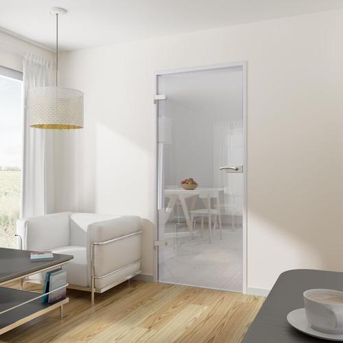 Tür Drehtür Glastür 834x1972 DIN links mit Beschlag ESG klar Wohnungstür - Tür + Beschlag DB05