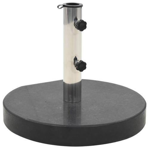 vidaXL Sonnenschirmständer Granit 30 kg Rund Schwarz