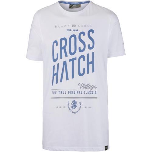 Crosshatch Fresan T-Shirt Herren in white, Größe M