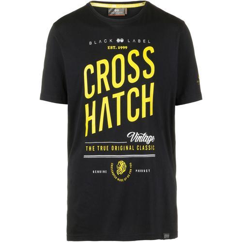 Crosshatch Fresan T-Shirt Herren in black, Größe L