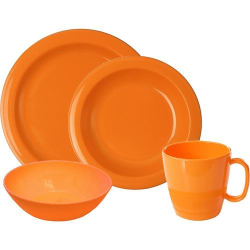 WACA Frühstücks-Geschirrset, (Set, 8 tlg.) orange Frühstücks-Geschirrset Frühstücksset Eierbecher Geschirr, Porzellan Tischaccessoires Haushaltswaren