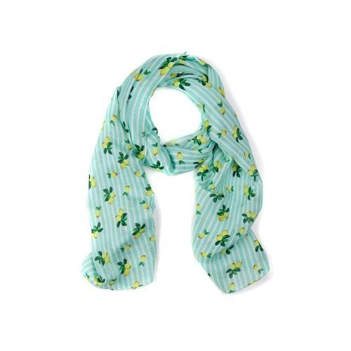 Große Größen Schal Damen (Größe One Size, multicolor) | Ulla Popken Schals & Tücher | Polyester, Zitronenmuster