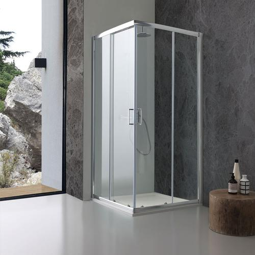 Transparente Kristall-Duschbox 6 Mm 100X100 Cm Giada
