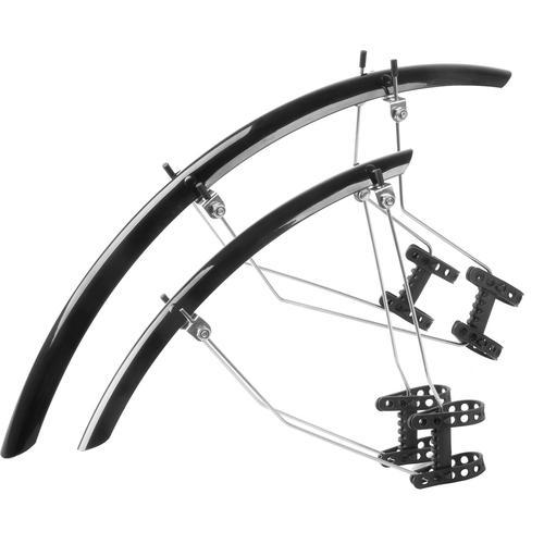M-WAVE Schutzblech-Set breite 42 mm Rad-Ausrüstung Radsport Sportarten Fahrrad-Zubehör