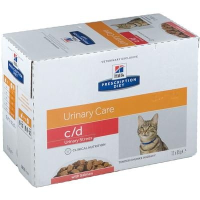 Hill's Prescription Diet™ c/d Urinary Care Aliment pour chat au saumon g sachet(s)